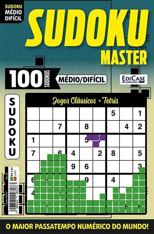 Sudoku Master Ed. 23 - Médio/Difícil - Só jogos 9x9 - Jogos Clássicos - Tetris  - EdiCase Publicações