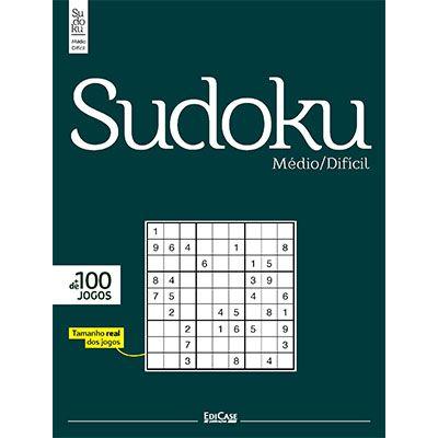 Sudoku Médio/Difícil Ed. 01 - Só Jogos 9x9  - EdiCase Publicações