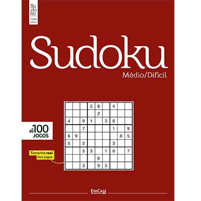 Sudoku Médio/Difícil Ed. 02 - Só Jogos 9x9  - EdiCase Publicações