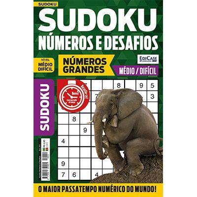 Sudoku Números e Desafios Ed. 111 - Médio/Difícil - Só Jogos 9x9 - Números Grandes   - EdiCase Publicações