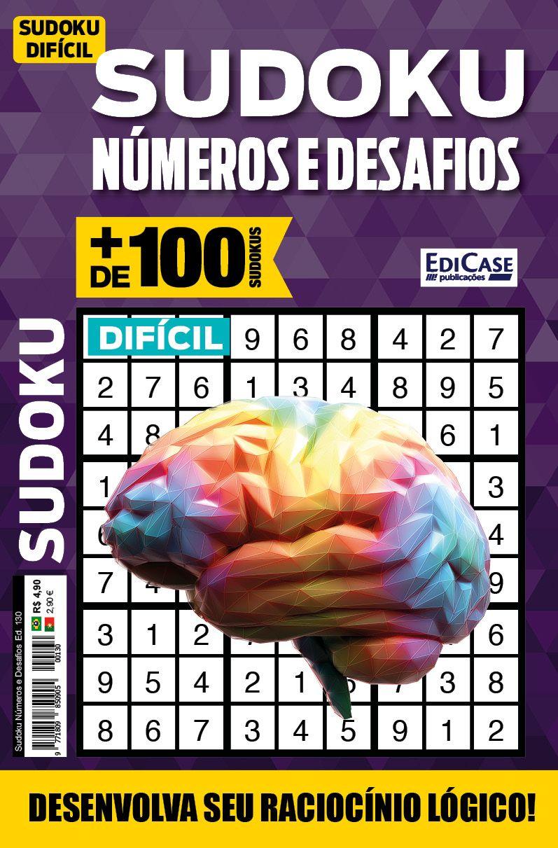 Sudoku Números e Desafios Ed. 130 - Difícil - Só Jogos 9x9 4 jogos por página