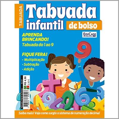 Tabuada Infantil de Bolso Ed. 01 - Aprenda Brincando  - EdiCase Publicações