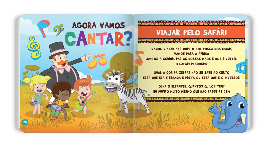 Animais do Safári Capa Dura  - Lojinha do Bita