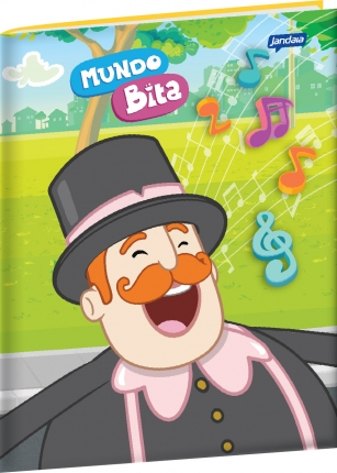 Caderno Brochura Grande - Tema: Bita Musical  - Lojinha do Bita