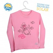 Camiseta Mundo Bita Rosa Longa – UV.action