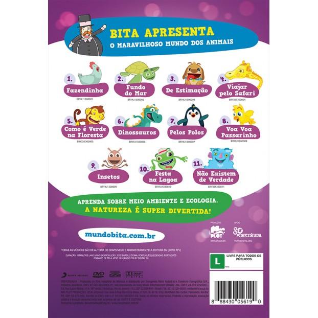 DVD BITA E OS ANIMAIS  - Lojinha do Bita