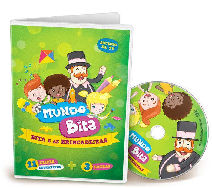 Coleção com 4 DVDs Mundo Bita  - Lojinha do Bita