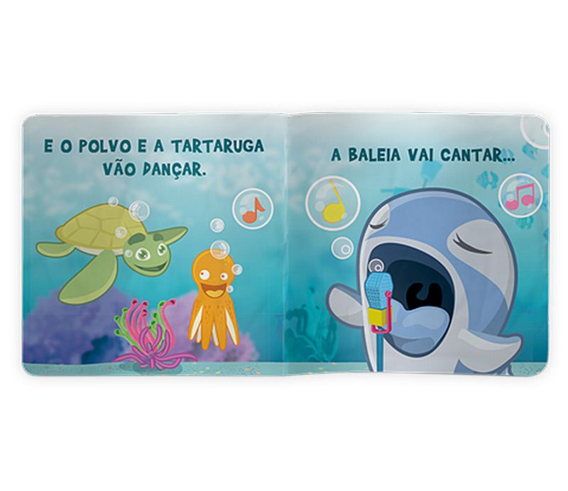 Fundo do Mar (Livro de Banho)  - Lojinha do Bita
