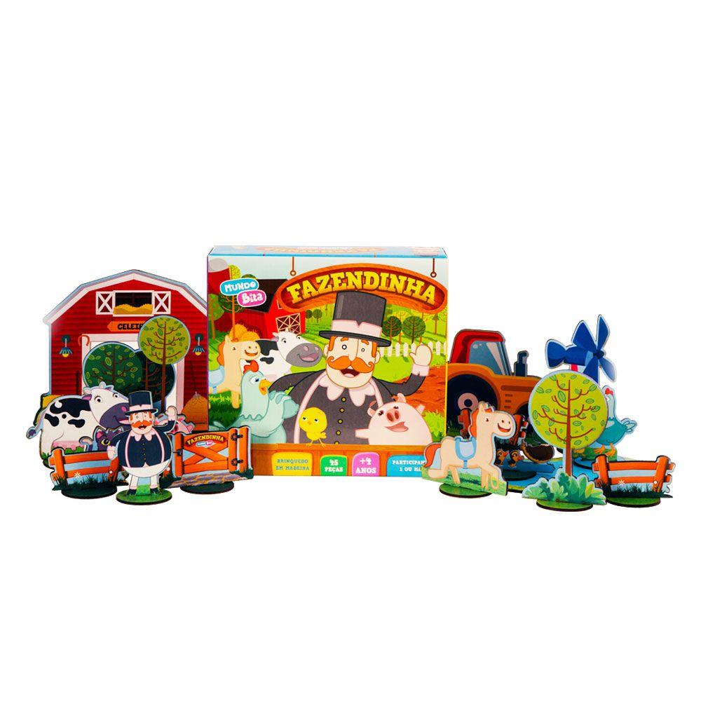 Fazendinha - Brinquedo em Madeira  - Lojinha do Bita