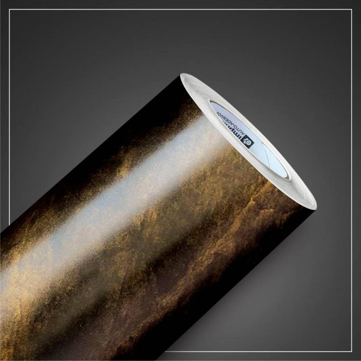 00022 Gold Pedras - Adesivo Decorativo de parede - 60cm larg  - Fac Signs