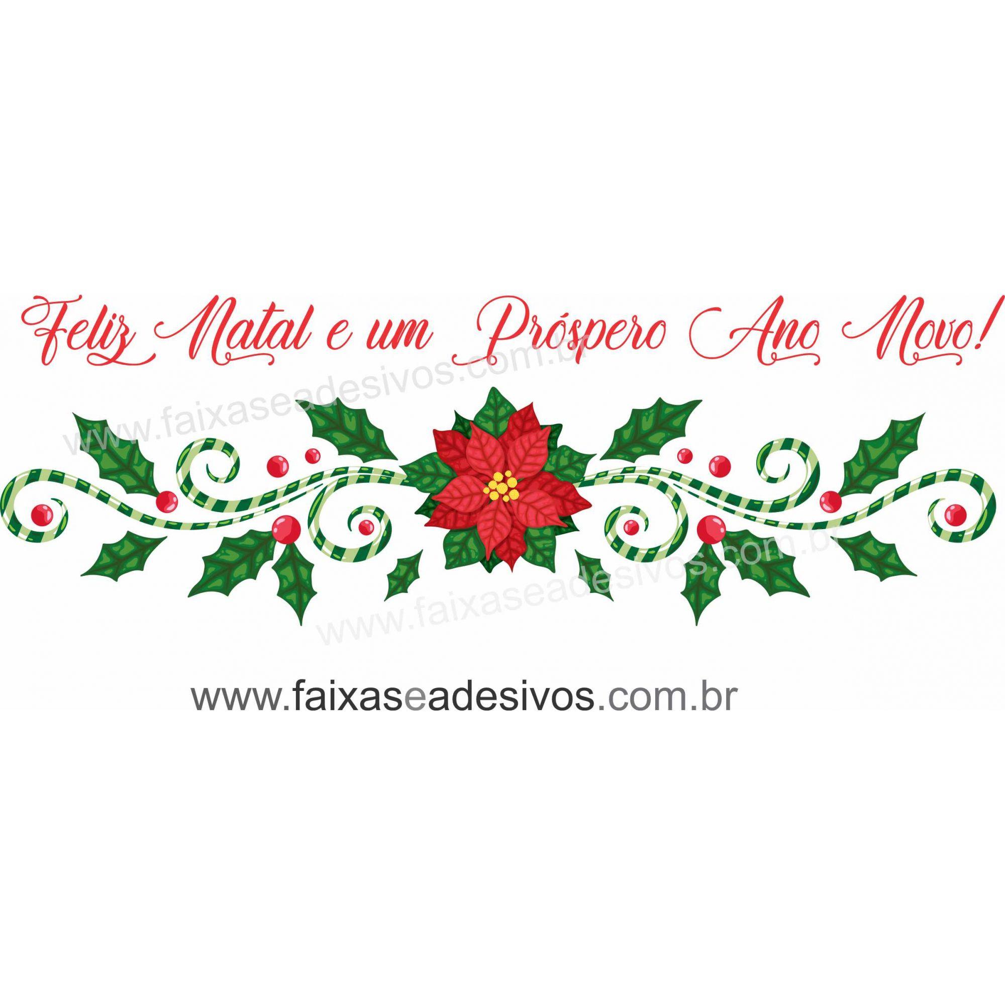 0194 - Adesivo Natal Candice   - FAC Signs Impressão Digital