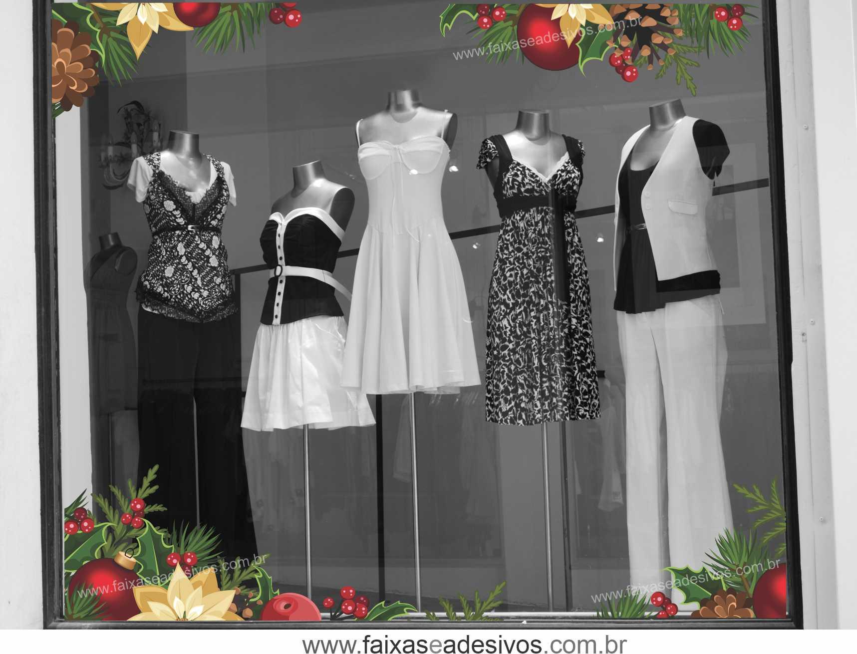 0197 - Adesivo Natal Laço de Canto  - Fac Signs