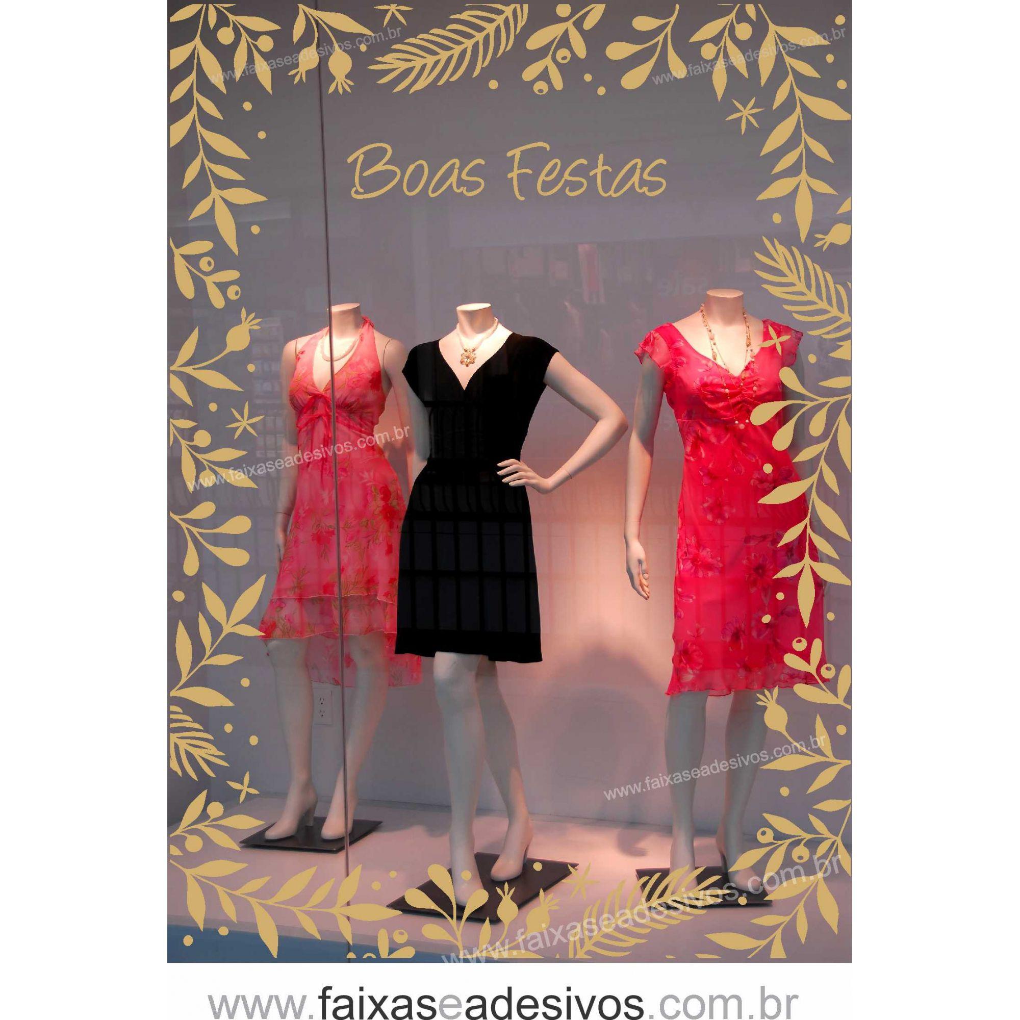 0203 - Adesivo Borda Ramo de Natal  - FAC Signs Impressão Digital