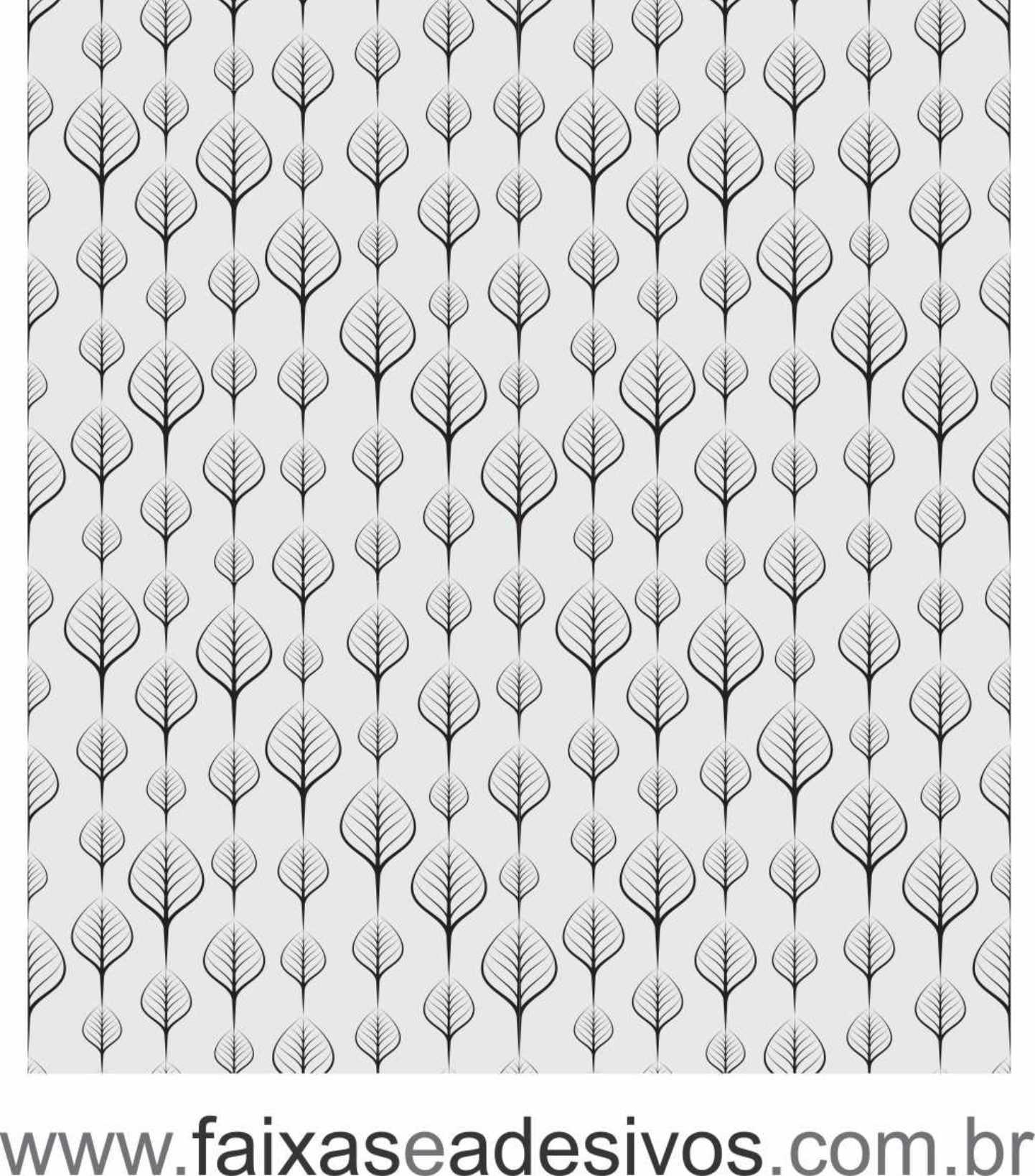 064 VD - Adesivo Jateado para vidro Folhas  220x70cm  - Fac Signs
