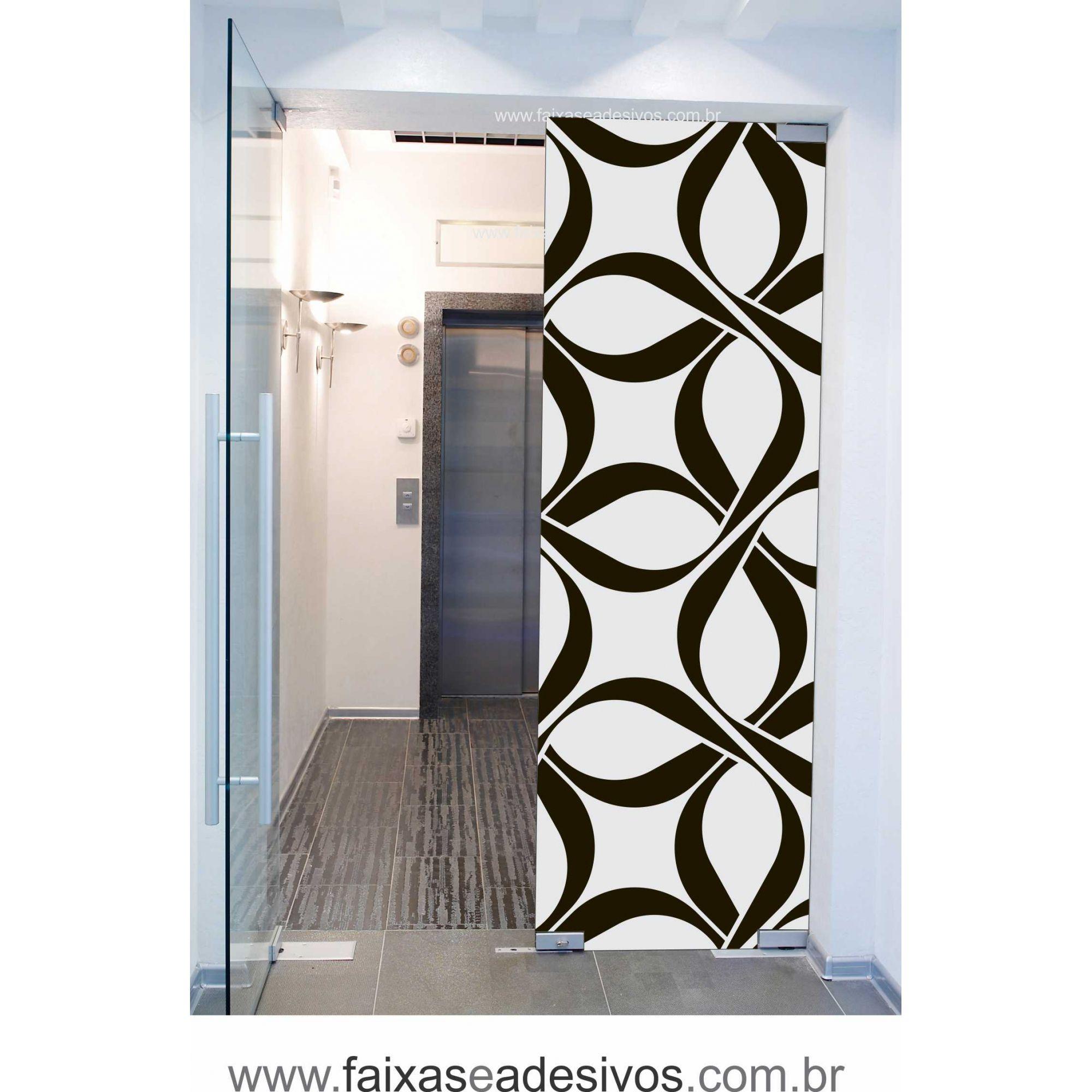 067 VD - Adesivo Jateado para vidro Ornamental grande 220x70cm  - Fac Signs