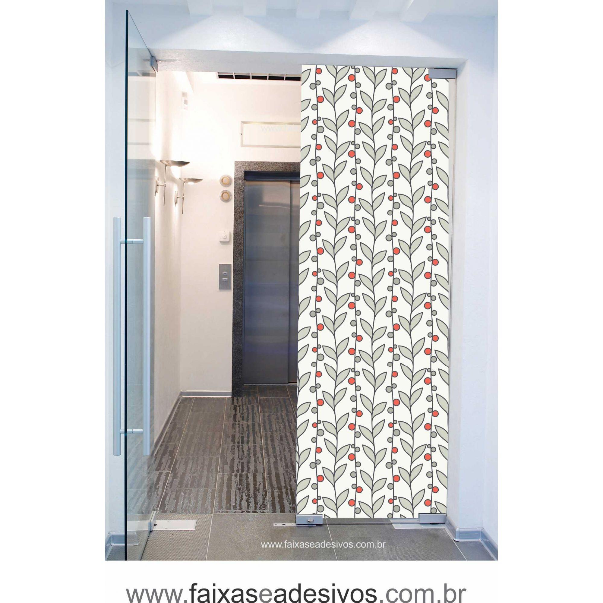 068 VD - Adesivo Jateado para vidro Galho de café  220x70cm  - Fac Signs