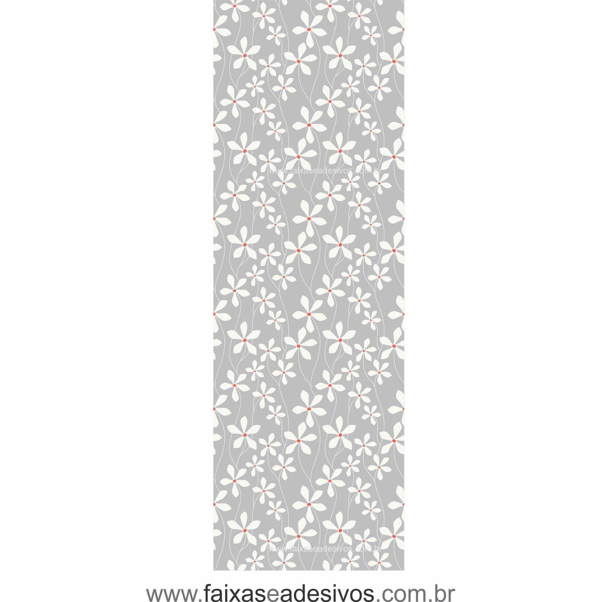 071 VD - Adesivo Jateado para vidro Flor Laranjeira  210x70cm  - Fac Signs