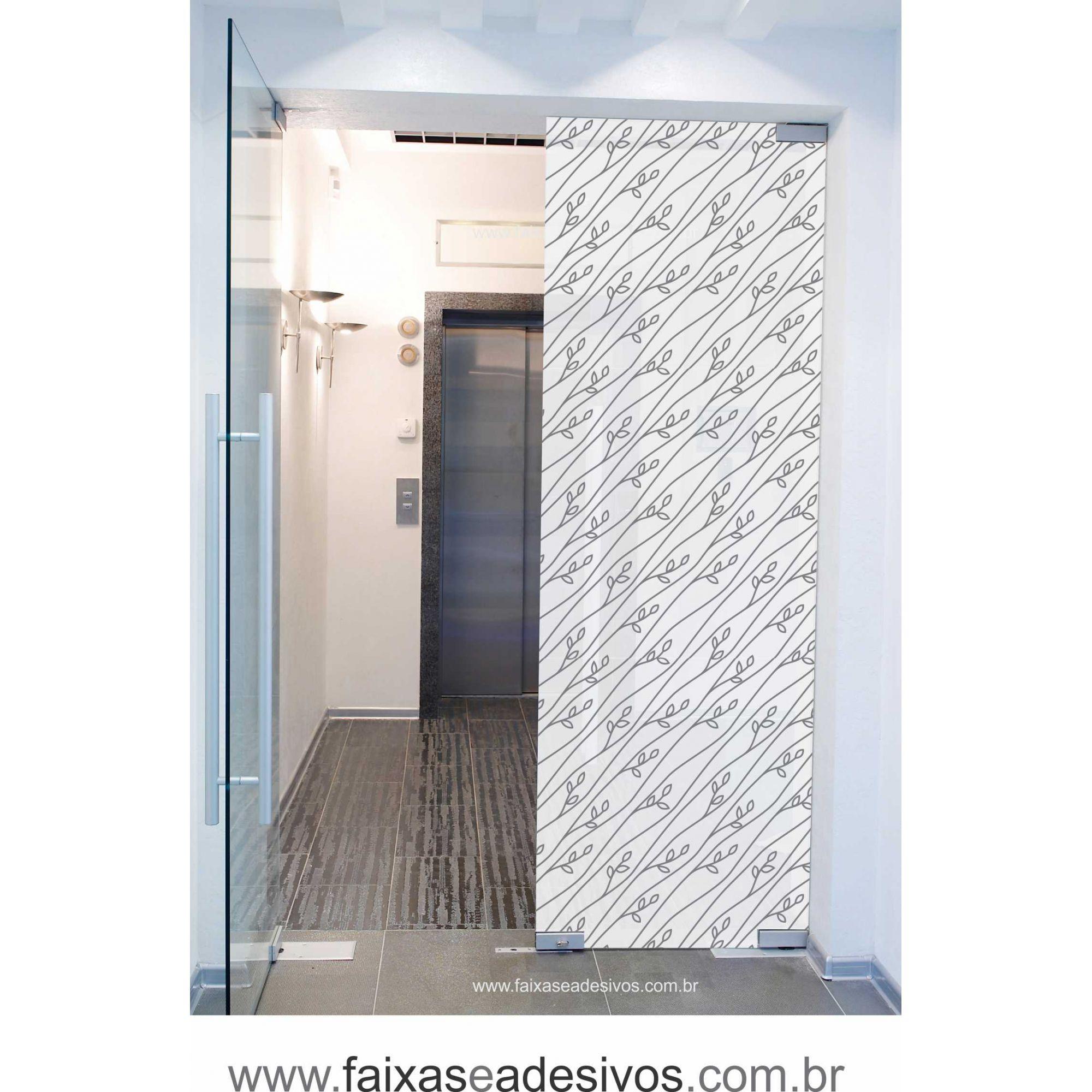 077 VD - Adesivo Jateado para vidro Brotinho 210x70cm  - Fac Signs