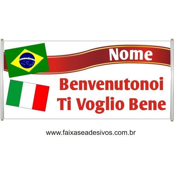 Faixa Intercambio Itália  - Escolha o tamanho  - FAC Signs Impressão Digital