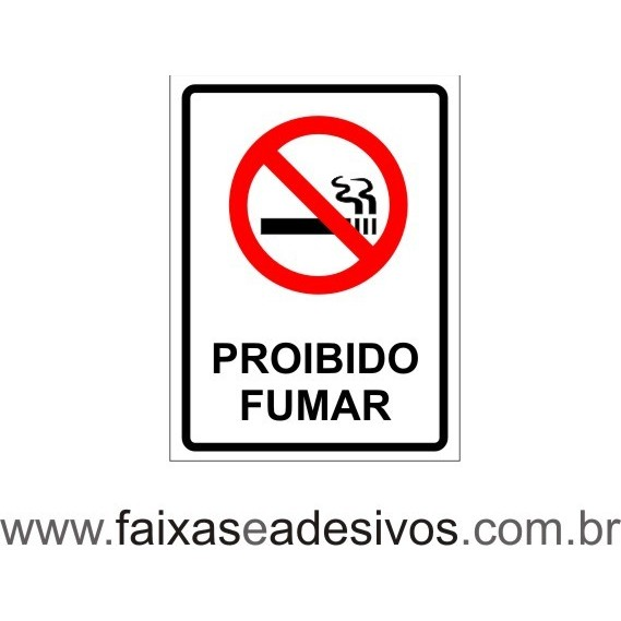 Proibido Fumar tradicional 20x15cm  - FAC Signs Impressão Digital