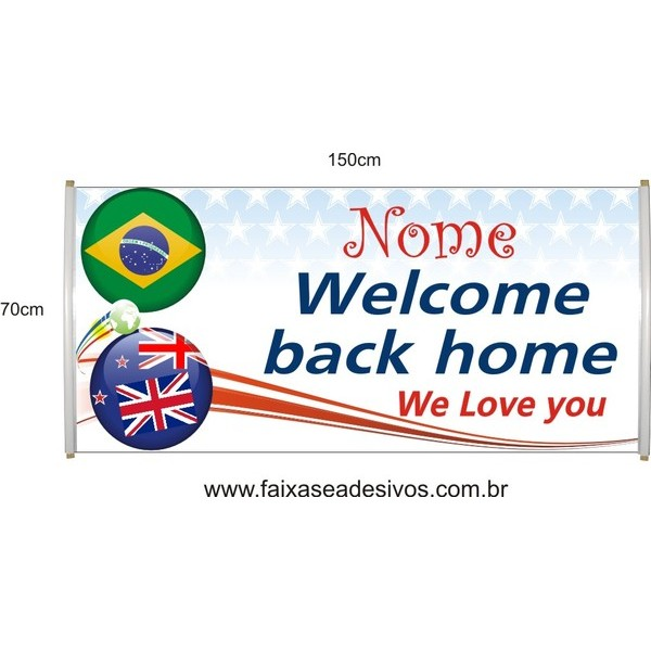 Faixa Welcome We Love 1,50 x 0,70m  - Fac Signs