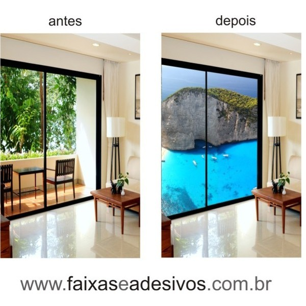 300 - Adesivos para Porta de vidro decorada com foto  - Fac Signs