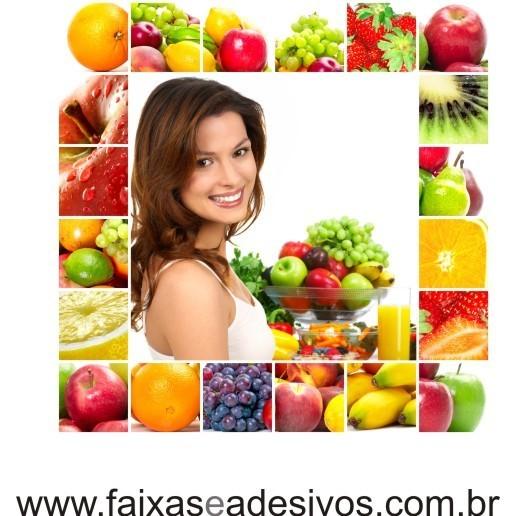 Adesivo Nutrição Frutas e Cor  - FAC Signs Impressão Digital