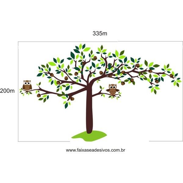009 - Arvore Adesivo decorativo SUPER - Escolha o tamanho  - FAC Signs Impressão Digital