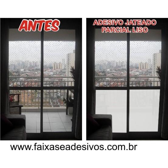 107 - ADESIVO JATEADO para porta balcão - 100x70cm liso - Kit 2 peças  - Fac Signs