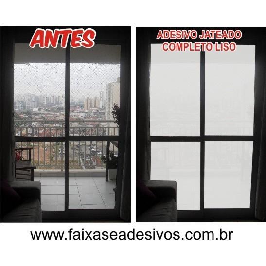 106 - Adesivo Jateado para porta Balcão - liso - Kit 4 peças  - FAC Signs Impressão Digital