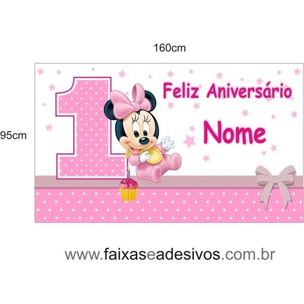 Painel Minnie Baby 1,60 x 0,95m  - FAC Signs Impressão Digital
