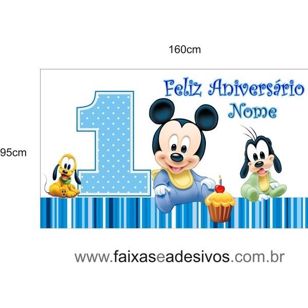 Painel Mickey Baby 1 60 X 0 95m Fac Signs Impress 227 O Digital