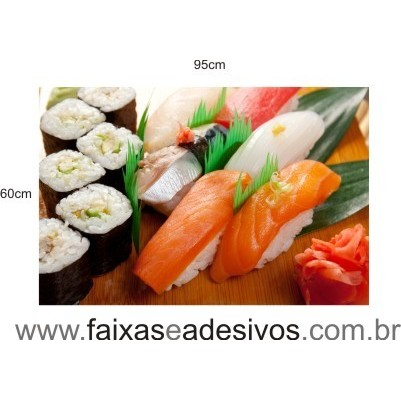Comida Japonesa - decorativo 95 x 60cm - Adesivo ou placa  - Fac Signs