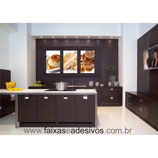 Placa para Decoração de Cozinha 50 x 30cm jogo com 3pç  - FAC Signs Impressão Digital