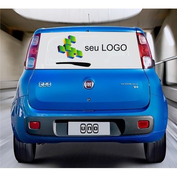 Adesivo Perfurado para Carro Pequeno Porte - Envie a arte pronta ou fazemos a arte  - FAC Signs Impressão Digital