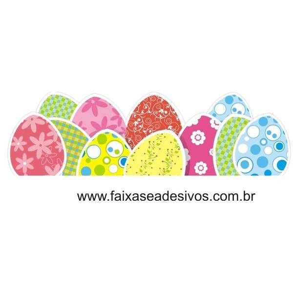 AP425 - Ovos de Páscoa charmoso - Barrado de adesivo  - FAC Signs Impressão Digital