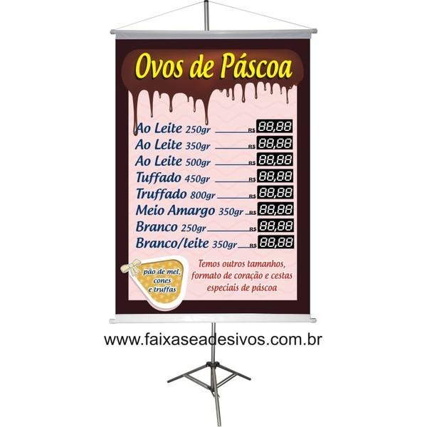 Banner de Páscoa Tabela de Preços 1,00 x 0,70m  - Fac Signs
