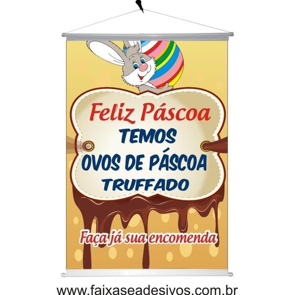 Banner Temos Ovos de Páscoa Trufado   - FAC Signs Impressão Digital