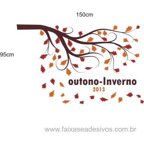 Adesivo Decorativo Outono Inverno 1,50 x 0,95m  - FAC Signs Impressão Digital