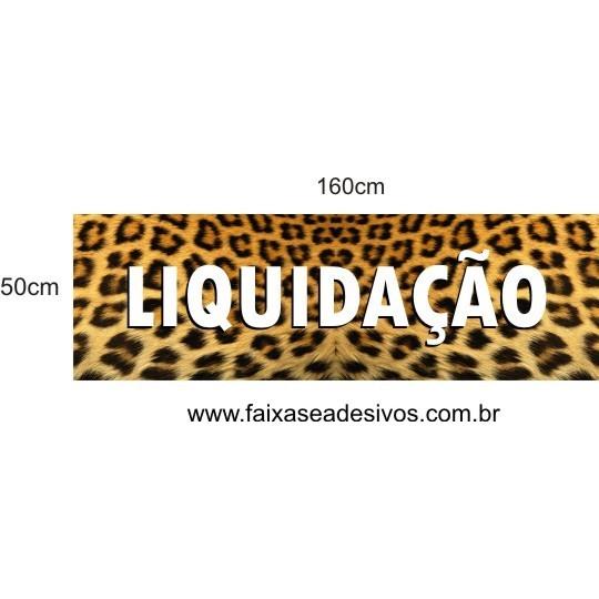 Adesivo de Vitrine Pele de Onça 1,60 x 0,50m  - FAC Signs Impressão Digital