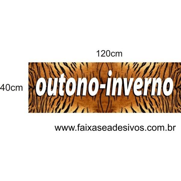 Adesivo de Vitrine Pele de Tigre 1,20 x 0,40m  - FAC Signs Impressão Digital