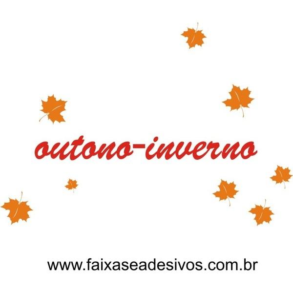 Adesivo Folhas Secas Outono Inverno 1,00 x 0,90m  - FAC Signs Impressão Digital