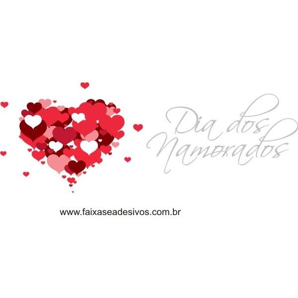 Adesivo Corações CDN01 Dia Dos Namorados  65 x 70cm  - FAC Signs Impressão Digital
