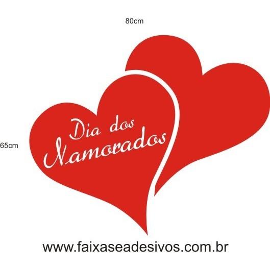 Adesivo Dia dos Namorados RECVA01 80 x 65cm  - Fac Signs