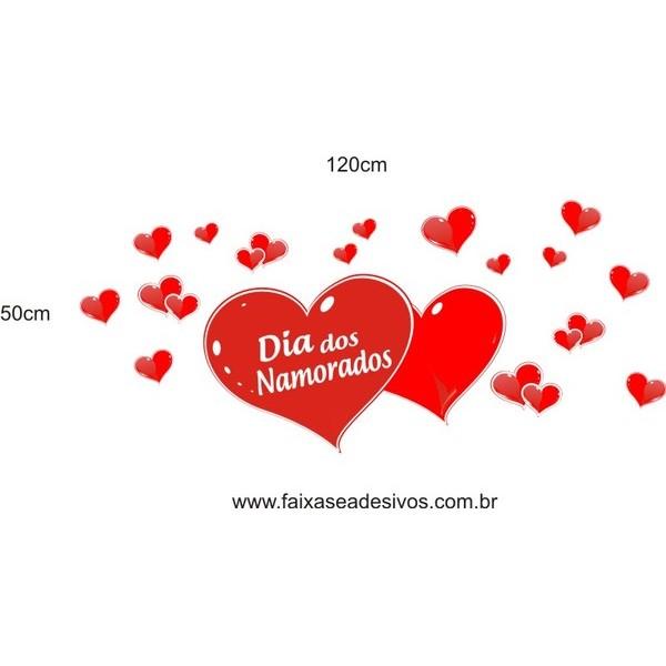 Adesivo Namorados ADNA01 1,20 x 0,50m  - FAC Signs Impressão Digital