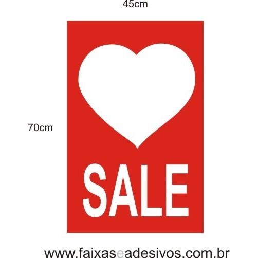 Adesivo Sale 45 x 70cm love  - FAC Signs Impressão Digital