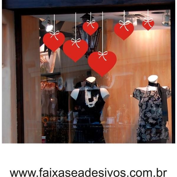 Adesivo Coração com Fita 1,10 x 0,60m (CF001)  - FAC Signs Impressão Digital