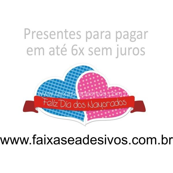 Adesivo Corações Charmosos 02 peças 40 x 30cm  - FAC Signs Impressão Digital