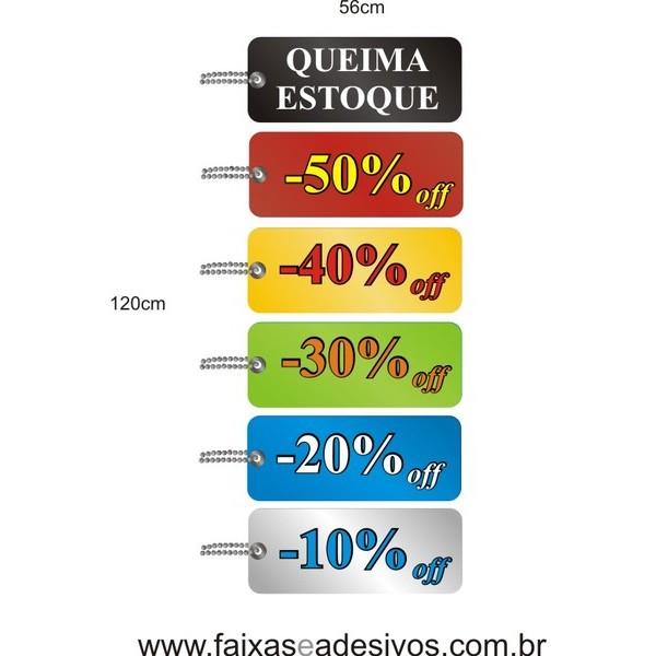 Adesivo Tag Cores Vertical 1,20 x 0,56m  - FAC Signs Impressão Digital
