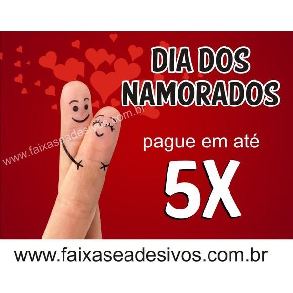 Adesivo Dia dos Namorados 70 x 50cm DED01  - Fac Signs